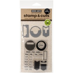 Planner Banners Clear Stamps with Matching Dies Kelly Purkey Hero Arts