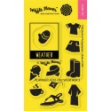 """Planner Add-On Weather 2 Clear Stamps 2""""x3"""" Waffle Flower Crafts"""