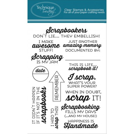 """Scrapbook It Clear Stamps 4""""x6"""" Technique Tuesday"""