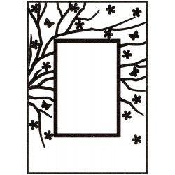 "Rectangle Frame With Rectangle Opening Embossing Folder 4""x6"" Nellie Snellen"
