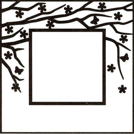 """Rectangle Frame With Rectangle Opening Embossing Folder 4""""x6"""" Nellie Snellen"""