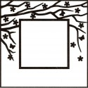 """Square Frame With Square Opening Embossing Folder 5""""x5"""" Nellie Snellen"""