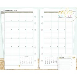 Personal Planner Calendar A2 Inserts Color Crush Webster's Pages