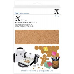 Xtras A5 Adhesive Cork Sheets 15 Pkg Xcut Docrafts