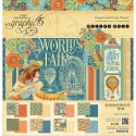 """World's Fair Collection Papercrafting Paper 12""""x12"""" Graphic45"""