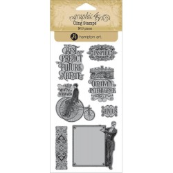 A Christmas Carol 3 Cling Mounted Stamps Hampton Art