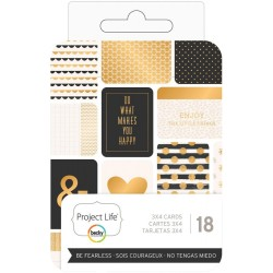 "Be Fearless Project Life Themed Cards 3""x4"" 18 Pkg Heidi Swapp"