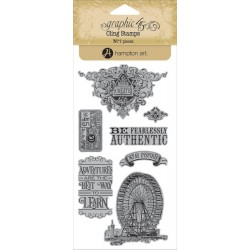 Timbri World's Fair 3 Cling Stamps by Graphic45 Hampton Art