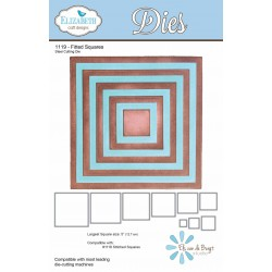 Fitted Squares Dies Elizabeth Craft Designs