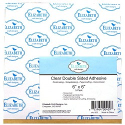 "6""x6"" Clear Double Sided Adhesive Sheet Elizabeth Craft Designs"