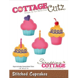 Stitched Cupcakes Die CottageCutz