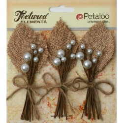 Flowers Petaloo Natural Burlap Picks 3 Pkg