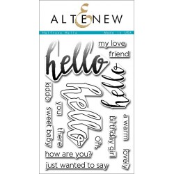 "Halftone Hello Clear Stamps 4""x6"" Altenew"