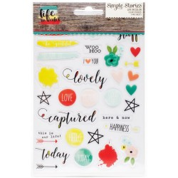 "Life In Color Clear Stickers 4""x6"" Sheets 3 Pkg Simple Stories"