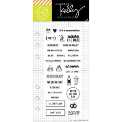 """Occasion Planner Clear Stamps 2,5""""x6"""" Kelly Purkey Hero Arts"""