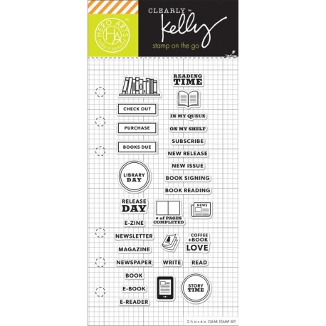 """Timbro Reading Planner Clear Stamps 2,5""""x6"""" Kelly Purkey Hero Arts"""