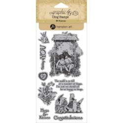 Timbri Children's Hour 1 Cling Stamps by Graphic45 Hampton Art
