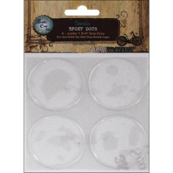 "Bottle Cap Exposy Dots 1,75"" 4 pkg"