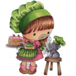 Sweet Like Cake Rubber Stamp Candi Bean Little Darlings