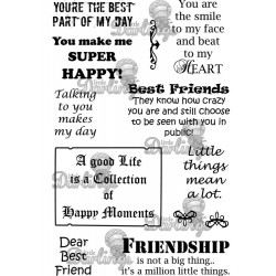 Best Friends Sentiments Rubber Stamps Little Darlings