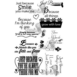 Timbri Just Because Sentiments Rubber Stamps Little Darlings
