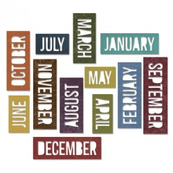 Calendar Words Block Sizzix Thinlits by Tim Holtz