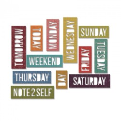 Daily Words Block Sizzix Thinlits by Tim Holtz