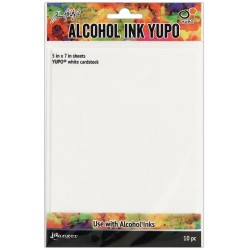 Tim Holtz Alcohol Ink White Yupo Paper 10 Sheets Tim Holtz
