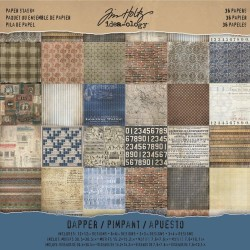 "Dapper Paper Stash 12""x12"" Idea-Ology by Tim Holtz"