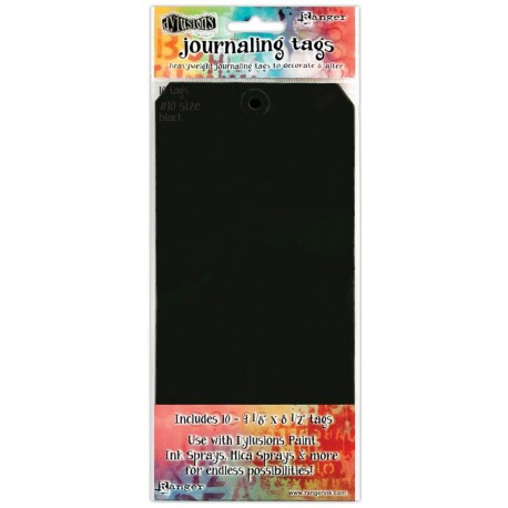 Black size 10 Journaling Tags 10 Pkg Dyan Reaveley's Dylusions