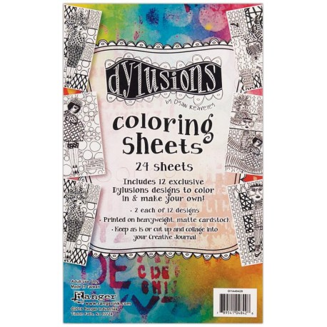 "Coloring Sheets 5""x8"" Dyan Reaveley's Dylusions"