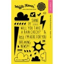 "Rain Check Clear Stamps 2""x3"" Waffle Flower Crafts"