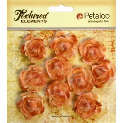 Flowers Petaloo Peach Mini Garden Rosette Canvas 10 Pkg