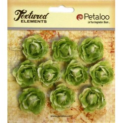 Flowers Petaloo Green Mini Garden Rosette Canvas 10 Pkg