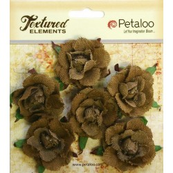 Petaloo Natural Garden Rosette Canvas 6 Pkg