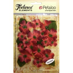 Fiori Petaloo Antique Red Dogwood Canvas 24 Pkg