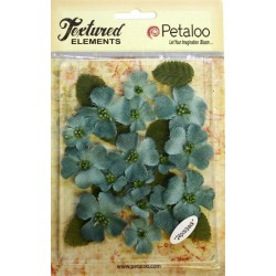 Fiori Petaloo Antique Blue Dogwood Canvas 24 Pkg