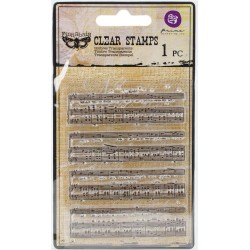 Music To My Ears Cling Stamps Prima Marketing