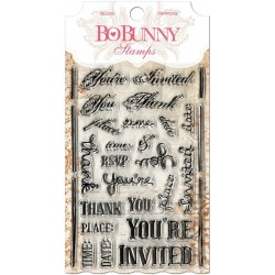 "You're Invited Clear Stamps 4""x6"" Bo Bunny"