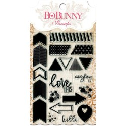 """Timbri To The Point Clear Stamps 4""""x6"""" Bo Bunny"""
