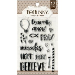 "Amen Clear Stamps 4""x6"" Bo Bunny"