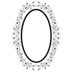Oval Frame 4 Embossing Folder Hobby Solution