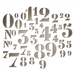 Stencil Numbers Sizzix Thinlits by Tim Holtz