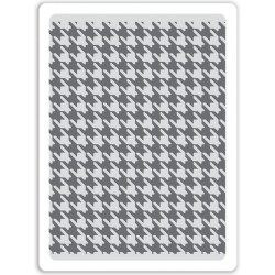 Houndstooth Textured Impressions A2 Embossing Folder Sizzix by Tim Holz