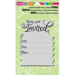 Dotted Invite Cling Rubber Stamps Stampendous
