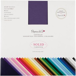 """12""""x12"""" Capsule Assorted Colossal Colours Papermania Docrafts"""