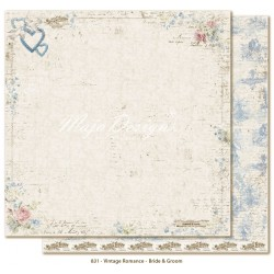 "Bride & Groom 12""x12"" Vintage Romance Collection Maja Design"
