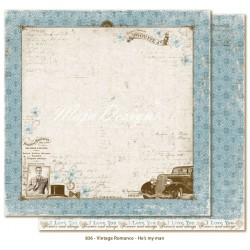 "Carta He's my Man 12""x12"" Vintage Romance Collection Maja Design"