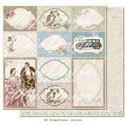"Carta Love Notes 12""x12"" Vintage Romance Collection Maja Design"