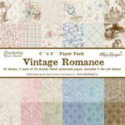 "Vintage Romance Collection 6""x6"" Paper Pack Maja Design"